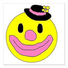 "HappyClown Square Car Magnet 3"" x 3"""