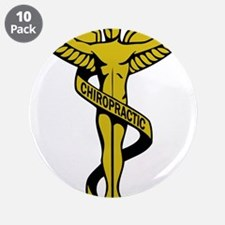 "Chiropractic Symbol 3.5"" Button (10 pack)"
