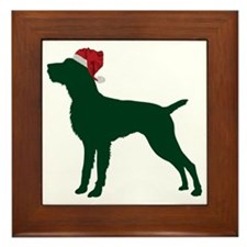 German-Wirehaired-Pointer23 Framed Tile