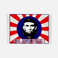 El Abe Vive Burst Rectangle Magnet