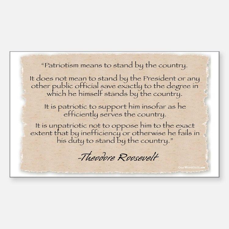 Rectangle Sticker:Roosevelt-Patriotism