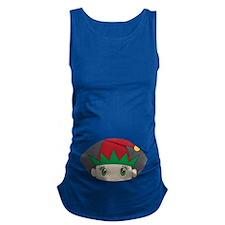 Elf Baby Peeking Maternity Tank Top