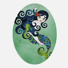 aquamarine Oval Ornament