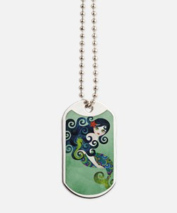 aquamarine Dog Tags