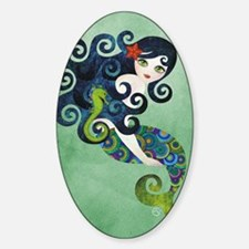 aquamarine Sticker (Oval)