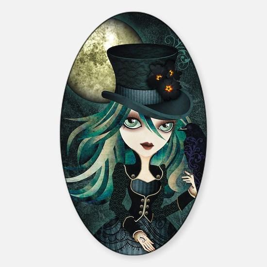 raven_high Sticker (Oval)