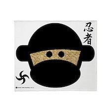 ninjamonkeyheadnew Throw Blanket