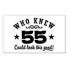 Funny 55th Birthday Decal