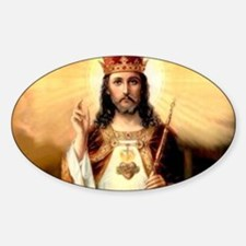 2-ChristKing-300x225 Sticker (Oval)