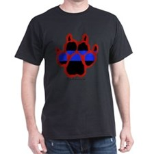 Red Paw  (Paw Enforcement- light) FRO T-Shirt