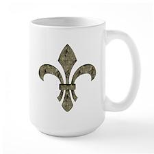 Brassy Skeletons Fleur De Lis Mug