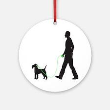 Lakeland-Terrier34 Round Ornament