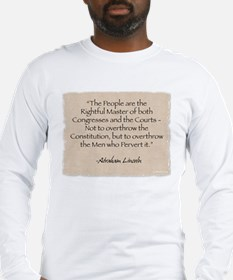 Long Sleeve T-Shirt: Lincoln-Rightful Master