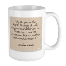 Large Mug: Lincoln-Rightful Master