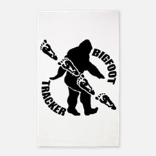 Bigfoot tracker 3'x5' Area Rug
