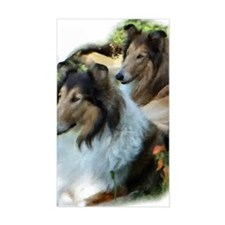 Two Sable Rough Colies Decal