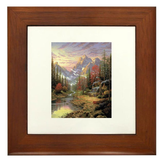 Thomas Kinkade Framed Tile By Jewelsgems