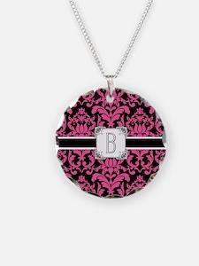 Letter B Monogram Floral Dam Necklace