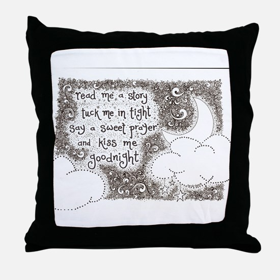 tuck me in tight Throw Pillow