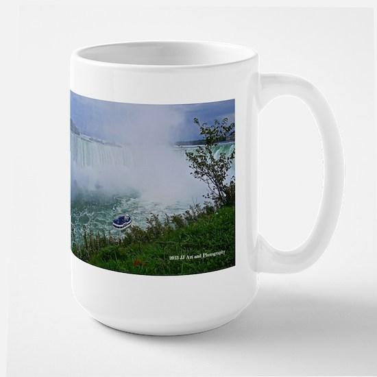 Horseshoe Falls And Boat Large Mug