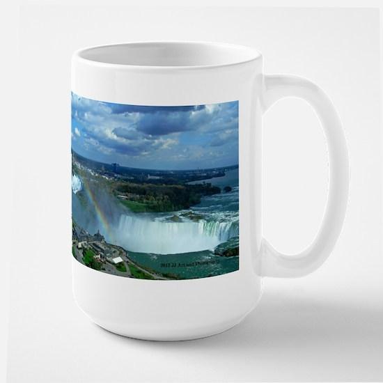 Niagara Falls And Rainbow Large Mug