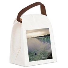Horseshoe Falls And Boat Canvas Lunch Bag