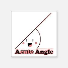 """a cute angle Square Sticker 3"""" x 3"""""""