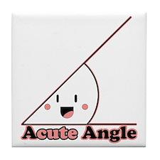 a cute angle Tile Coaster