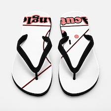 a cute angle Flip Flops