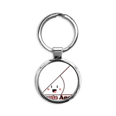 a cute angle Round Keychain