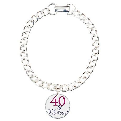 40 and fabulous Charm Bracelet, One Charm