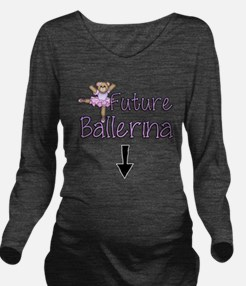 Future Ballerina Long Sleeve Maternity T-Shirt
