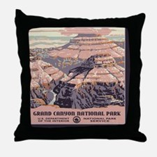square_grand-canyon-wpa-vintage_01 Throw Pillow