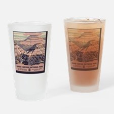 square_grand-canyon-wpa-vintage_01 Drinking Glass