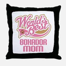 Boxador Dog Mom Throw Pillow
