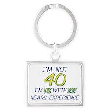 40TH BIRTHDAY Landscape Keychain