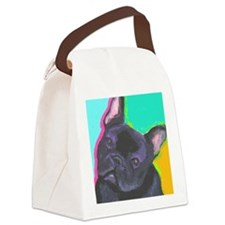 black frenchie cafe Canvas Lunch Bag