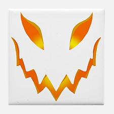 Evil Pumpkin smile Tile Coaster