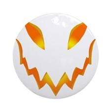 Evil Pumpkin smile Round Ornament