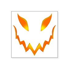 """Evil Pumpkin smile Square Sticker 3"""" x 3"""""""