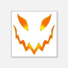 "Evil Pumpkin smile Square Sticker 3"" x 3"""