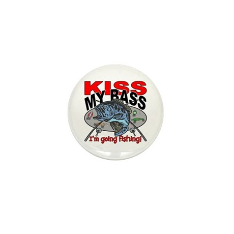 Kiss My Bass, I'm Going Fis Mini Button (100 pack)