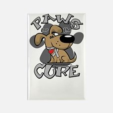 Paws-for-the-Cure-Parkinsons-blk Rectangle Magnet