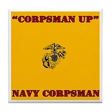 Corpsman Up Tile Coaster