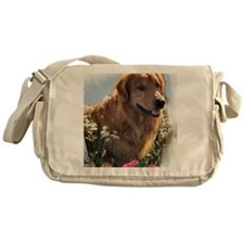 Golden Retriever Art Messenger Bag