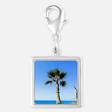 beach-life Silver Square Charm