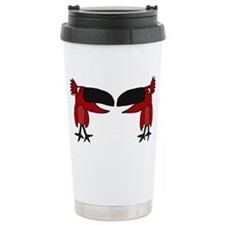 Funny Red Cardinal Birds Travel Mug