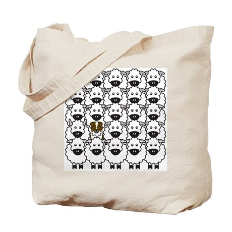 Red Aussie and Sheep Tote Bag