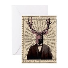Gentlman Deer Distinguished Steampunk Altered Art
