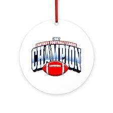 2007 Fantasy Football Champio Ornament (Round)